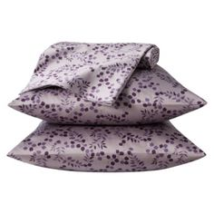 Target Home ™ 325 Thread Count Organic Cotton Sheet Set - Purple Floral Organic Cotton Sheets, Cotton Sheet Sets, Purple Grey, Green And Grey, Plum Bedroom, Master Bedroom, Holly Leaf, Purple Flowers, 1 Piece