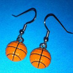 Basketball Earrings on Etsy, $10.00
