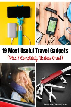 Frequent travelers reveal their best (and worst!) travel gadgets and accessories for long flights and road trips to make travel easier! The best tech for women men and kids! Packing Tips For Travel, Travel Essentials, Travel Clothesline, Best Travel Gadgets, Travel Hacks, Family Vacation Destinations, Travel Destinations, Family Vacations, Cruise Vacation