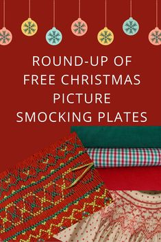 Round-up of Free Christmas Smocking Plates