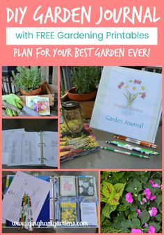 DIY Garden Journal and Planner - Gingham Gardens Vegetable Garden Planner, Backyard Vegetable Gardens, Vegetables Garden, Fruit Garden, Diy Garden, Shade Garden, Balcony Garden, Terrace, Organic Gardening