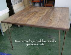Mesa de comedor hecha con madera recuperada,  Las hacemos a medida