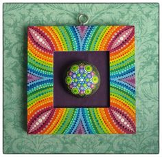 Elspeth McLean mandala stone and picture frame