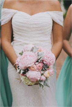 Le Magnifique Blog: Mint and Pink Vintage Summer Wedding by Brett and Jessica