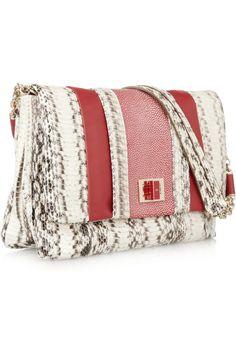 Anya Hindmarch Gracie Leather, Elaphe and Stingray Shoulder Bag