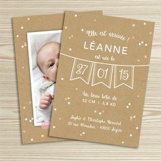 Tanni Lou - Naissance: > Faire-part naissance LÉANNE