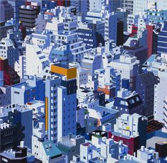 Tokyo, 2013. Acrylic on dibond 84 x 86 inches