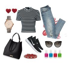 """Casual"" by solbranca on Polyvore featuring moda, Lime Crime, T By Alexander Wang, NIKE, FOSSIL, Gucci e RED Valentino"