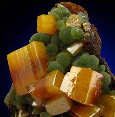 Wulfenite and Mimetite from Ojuela Mine, Mexico