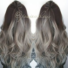 Image result for brown to grey ombre