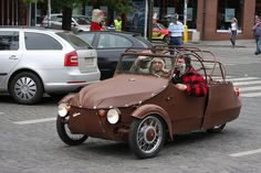 Hadraplan (hadr = rag) Motorized Trike, Von Dutch, Kustom Kulture, Small Cars, Old Cars, Czech Republic, Cars And Motorcycles, Classic Cars, Tricycle