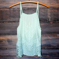 mint green boho chic crop top women's summer spring outfit concert festival coachella bohemian gypsy hippie vintage inspired urban clothing