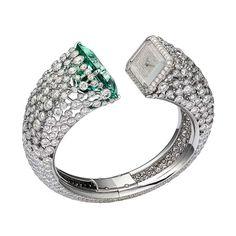 #chronowatchco Cartier Fabuleux green beryl and diamond watch.