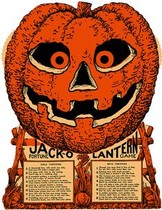 1920s Beistle Halloween Jack O'Lantern Fortune Game