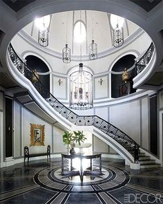 Staircase in a New Delhi home designed by Jean-Louis Deniot