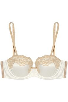 $60 - Elle Macpherson - Fly Butterfly Fly satin strapless bra. Every blushing bride-to-be needs beautiful lingerie and Elle Macpherson Intimates' satin strapless bra has molded cups to create an elegant foundation to any wedding dress. Lace trims lend the style a romantic feel and boning at the sides provides extra support. Complete a perfect set with the matching briefs.