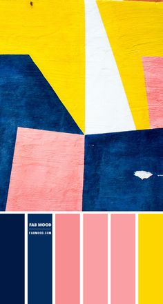 Navy blue, Pink and Yellow Color Scheme – Color Palette #70 1 - Fab Mood | Wedding Colours, Wedding Themes, Wedding colour palettes Royal Blue Color, Navy Blue, Red Color, Blue Colour Palette, Colour Combo, Blush Color, Sunflower Colors, Color Schemes Colour Palettes, Terracota