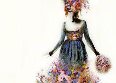 'La Primavera'. Giclée Konsttryck av Sonia MariaLuce Possentini - Arte Limited