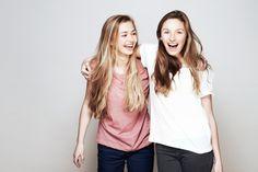 Stock Photo : Studio portrait of two women who are best friends