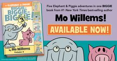Storytime just kicked up to a whole new level with the release of the latest edition of the Elephant & Piggie Biggie collection featuring 5 popular stories by Mo Willems. Available now! #ad Fun Crafts For Kids, Kid Crafts, Book Club Books, Book 1, Mom Website, Las Vegas Events, South Hadley, East Point, Valley Stream