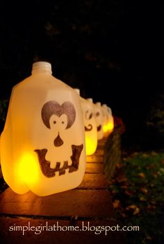 Simple Girl: Glowing Milk Carton Silly Faces