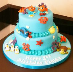 My little boys 1st Birthday cake. Made by a local cake maker - it looked absolutely stunning, was so pleased with the end result!!
