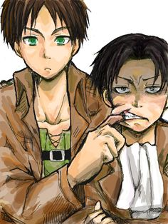 Attack on Titan (Shingeki no Kyojin) - Eren Jaeger x Levi Ackerman - Ereri