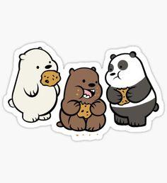 Eisbär-Aufkleber - TIFF's stickers yeeyee - Print Stickers Cool, Stickers Kawaii, Red Bubble Stickers, Meme Stickers, Tumblr Stickers, Printable Stickers, Laptop Stickers, We Bare Bears Wallpapers, Cute Wallpapers