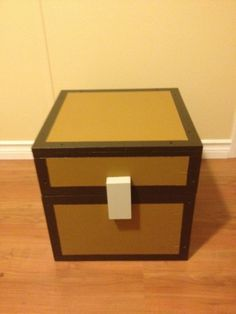 Minecraft Chest. This would be a cute way to store Mike's boyscout stuff instead of getting a tote. cool