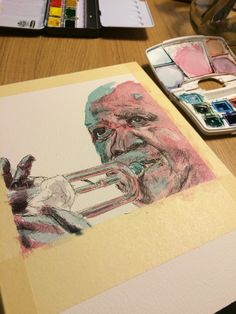 Watercolor Louis Armstrong