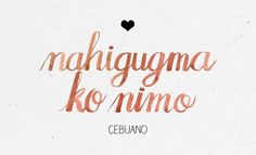 "In case ""mahal kita"" isn't working anymore. Bisaya Quotes, Dream Quotes, Funny Quotes, Tagalog Words, Tagalog Love Quotes, Filipino Words, Say I Love You, My Love, Family First Tattoo"