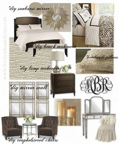 Master Bedroom Inspiration Board- All This Gorgeousness is possible by  DIY Tutorials !