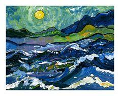 Seascape with Van Gogh's Sky