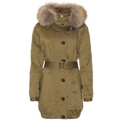 mytheresa.com - Burberry Brit - PETWORTH JACKET WITH FUR TRIMMED HOOD - Luxury Fashion for Women / Designer clothing, shoes, bags