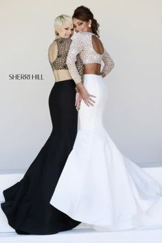 Sherri Hill 32009 also comes in pink and charcoal  ♡ #styled.by.madison