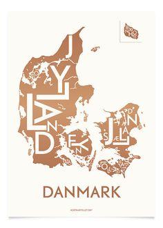 DANMARK - KOBBER - 40x55 CM
