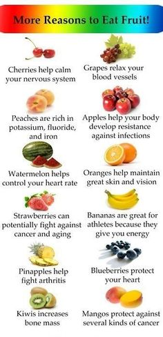 More Reasons to Eat Fruit! Infographic