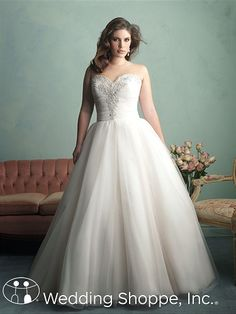 66ebb2722a4 Allure Women Plus Size Wedding Dresses W341