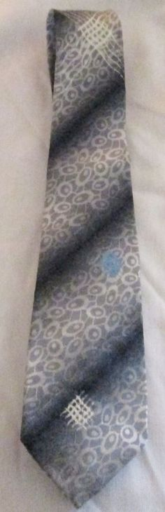 1960s Vintage Wembley Tie  Marked Wear With Gray Or Blue Suit   #Wembley #NeckTie #Business