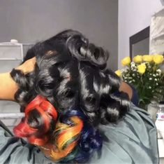 Protective Hairstyles, Afro Hairstyles, Pretty Hairstyles, Girl Hair Colors, Cute Hair Colors, Natural Hair Care, Natural Hair Styles, Different Hairstyles, Rainbow Hair