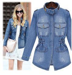 >> Click to Buy << Denim Jacket Women Vintage Jeans Jacket Dual Pockets Zipper Slim Cardigans Jeans Coat Long Sleeve S-XL chaqueta mujer C5504 #Affiliate