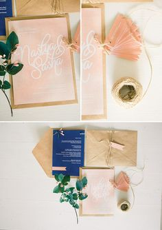 Peach and navy!