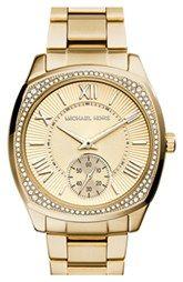 Michael Kors 'Bryn' Crystal Bezel Bracelet Watch, 40mm