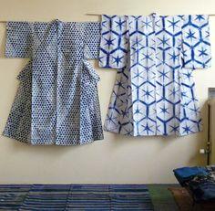 Early 20th century. Yukatas (summer garment). Shibori.