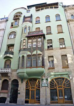 Art Nouveau, Bedo House, Budapest, Hungary