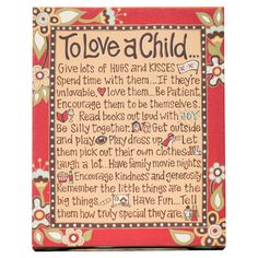 To Love A Child Table Top Textual Art on Canvas