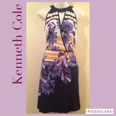 Kenneth Cole Floral Halter Dress Beautiful NWOT Dress. Elastic waist. Sleeveless. Halter. Soft and comfortable material. •Take reasonable offers • Love to Bundle• Please ask for measurements if not sure. Thanks :) Kenneth Cole Dresses