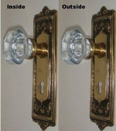 "OLD TOWN 24% Lead Crystal Glass/Solid Antique Brass Passage Door Set-for Modern Doors by Rousso's Reproduction. Save 33 Off!. $99.95. Your Purchase is for the finest Passage Knob set made in the last 100 years and we guarantee it. The Backplates are 8-1/2"" X 2-1/2"", hand forged of solid brass to fit these particular knobs. Oversized 24% Lead Crystal Glass Knobs set in Solid Brass Stems and each knob has two commercial grade Allen set screws. The inside rose liners connect through the l..."