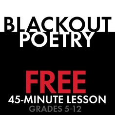 Fun and free poetry lesson for even the most-reluctant writer.