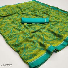 Sarees Aishani Superior Alluring Sarees Saree Fabric: Georgette Blouse: Separate Blouse Piece Blouse Fabric: Lace Pattern: Printed Multipack: Single Sizes:  Free Size (Saree Length Size: 5.5 m Blouse Length Size: 0.8 m) Country of Origin: India Sizes Available: Free Size   Catalog Rating: ★4 (507)  Catalog Name: Aishani Superior Alluring Sarees CatalogID_1047538 C74-SC1004 Code: 745-6574657-5931